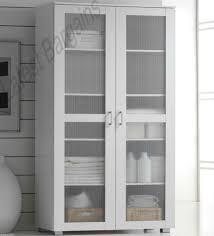 white storage cupboard 2 door pantry linen bathroom laundry
