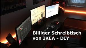 Pc Schreibtisch Klein Billiger Schreibtisch Für 150 U20ac Diy Von Ikea Hd Youtube