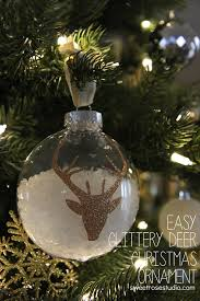 easy glittery deer ornament sweet studio