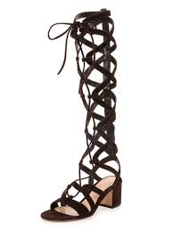 black suede lace up knee high gladiator sandals choies