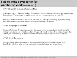 warehouse clerk cover letter warehouse clerk cover letter cover