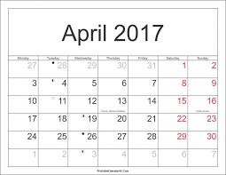 april 2017 calendar with holidays weekly template google docs 2 m