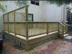 Backyard Privacy Screen by Lattice Provides Excellent Screening For Your Backyard Outdoor