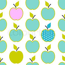 baby boy wrapping paper baby and kids pattern with apples vector background
