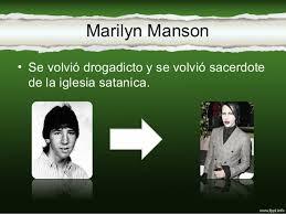 imagenes satanicas de marilyn manson antes y después de actores famosos