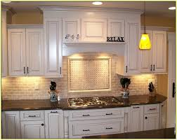 plain creative granite countertops with glass tile backsplash