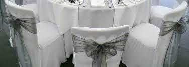 black chair sashes white chair covers