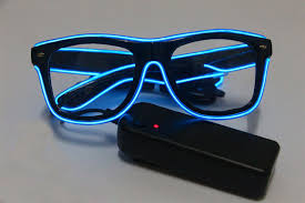 bright flashes of light in eye 50pcs el wire glow eye glasses led dj bright light safety light up