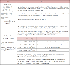 exponential function examples word problems information