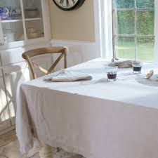modern table linen natural undyed pure linen tablecloth solid flax color custom