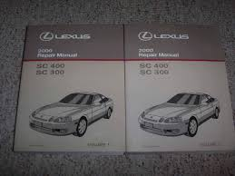 2000 lexus sc300 sc400 shop service repair manual 3 0l 4 0l v8