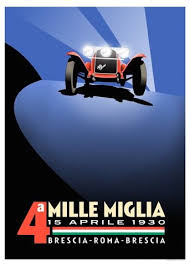 italian car poster website full of vintage car posters