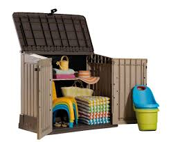Plastic Outdoor Storage Cabinet Keter Woodland 30 299 00 Landera Outdoor Storage Sheds And
