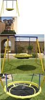 Flexible Flyer Backyard Swingin Fun Metal Swing Set Swings Slides And Gyms 16515 Saucer Ufo Swing Set For 1 Or 2
