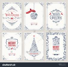 ornate vertical winter holidays greeting cards stock vector