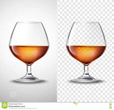 manhattan drink illustration wine glass with alcohol transparent banners stock vector image
