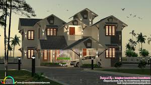 2910 sq ft 5 bedroom sloping roof home kerala home design