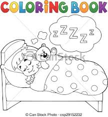 vectors coloring book sleeping child theme 1 eps10 vector