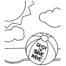 20 free printable beach ball coloring pages