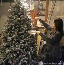lightly flocked christmas tree diy flocked christmas tree lovely etc with regard to lightly