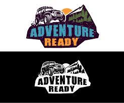 jeep adventure logo logo created brand offroading