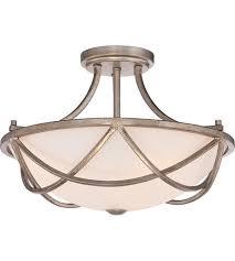 Ceiling Light Semi Flush Quoizel Mbk1716vg Milbank 2 Light 16 Inch Vintage Gold Semi Flush