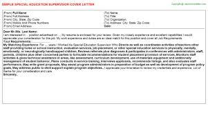 Supervisor Sample Resume by Application Letter Supervisor Position