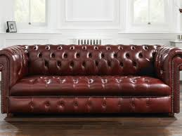 dark red leather sofa 15 inspirations of dark red leather couches