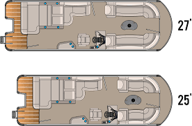 Pontoon Boat Floor Plans by 2014 Sierra Drl Tahoe Pontoon Boats