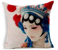Sofa Cushion Cover Designs Cute Sofa Pillow Case With Portrait Pattern Cotton Linen Material