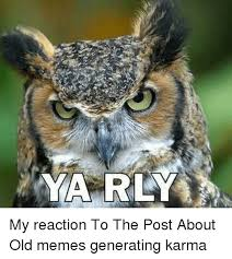 Generating Memes - ya rly my reaction to the post about old memes generating karma