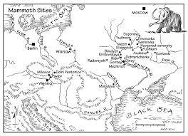 Mammoth Map Mammoth Bone Dwellings Houses Made From Elephant Bones