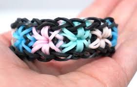 bracelet made with rubber bands images Rainbow loom starburst bracelet with 2 forks no hook colorful jpg