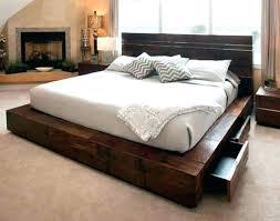 impressive raised platform bed frame activegift me