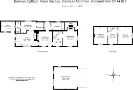 The Burrow Floor Plan by 2 Bedroom Cottage For Sale In Burrow Cottage Neen Savage