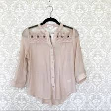 Blush Colored Blouse Sugar Rain On Poshmark
