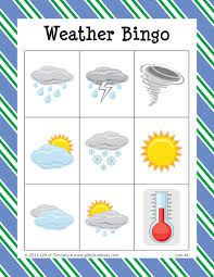 weather bingo gift of curiosity