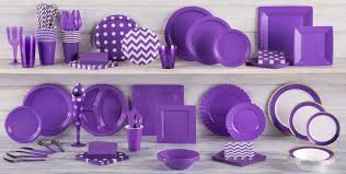 party city supplies halloween purple tableware purple party supplies party city