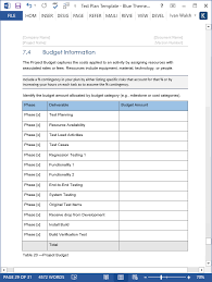 Excel Test Plan Template Test Plan Ms Word Excel Template