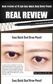 How To Pencil In Eyebrows Buy W Lab Easy Quick Dual Brow Pencil Online At Althea Singapore