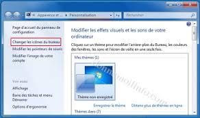 afficher bureau windows 7 bureau windows 7 astuces pour icônes arrière plan gadgets