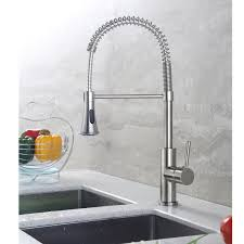 merritt contemporary kitchen sink faucet with pull down spray