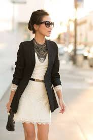 necklace with lace dress images Beautiful lace dress with a simple black blazer and an amazing jpg