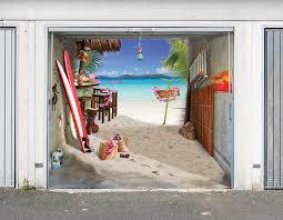 garagentor design aufkleber fürs garagentor optische täuschung mit coolen foto folien