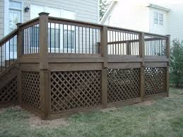 exterior stunning reachable designs of decks with lattice ideas