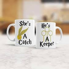 his hers mugs he s a keeper she s a catch set mugs his and hers mugs couples