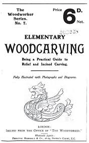 elementary woodcarving 1908 vintage woodworking book download