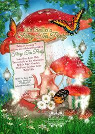 fairy tea party invitation fairy garden party fairy by bellaluella