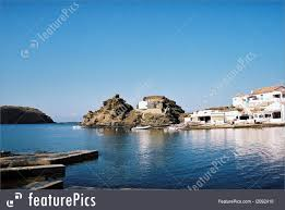 spanish mediterranean little fishers port in menorca spanish mediterranean island image