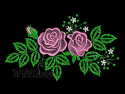 my roses 4 machine embroidery design